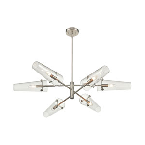 Valante Satin Nickel 55-Inch Six-Light Chandelier