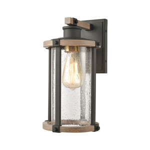 Geringer Charcoal and Burnished Brass One-Light Wall Sconce