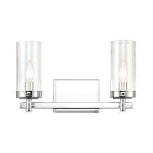 Melinda Polished Chrome Two-Light Bath Vanity