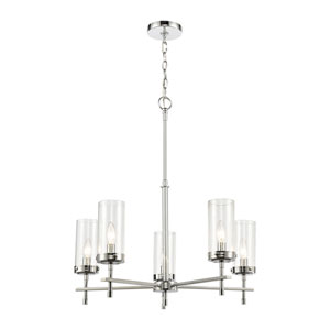 Melinda Polished Chrome Five-Light Chandelier