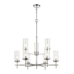 Melinda Polished Chrome Nine-Light Chandelier