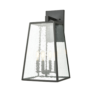 Meditterano Charcoal Four-Light 11-Inch Wall Sconce