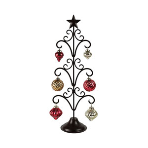 Northstar Antique Gold and Red Ornament Stand