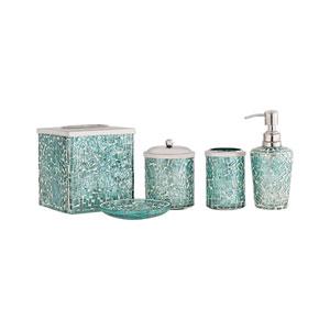Sharad Azure Bath Accessory Set