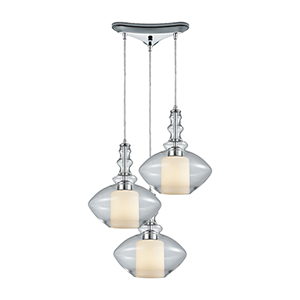 Alora Polished Chrome 100W Three-Light Pendant