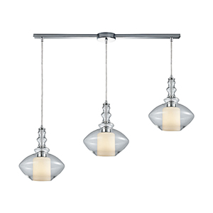 Alora Polished Chrome Three-Light Pendant