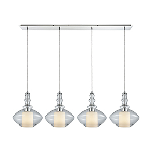 Alora Polished Chrome 100W Four-Light Pendant