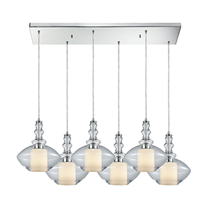 Alora Polished Chrome 100W Six-Light Pendant