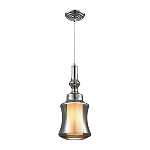 Alora Polished Chrome One-Light Mini Pendant