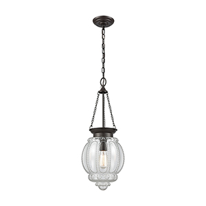 Victoriana Oil Rubbed Bronze 60W One-Light Pendant