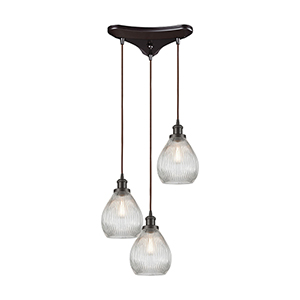 Jackson Oil Rubbed Bronze 60W Three-Light Pendant