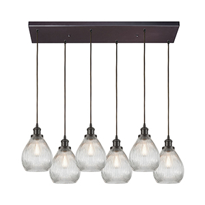 Jackson Oil Rubbed Bronze Six-Light Pendant
