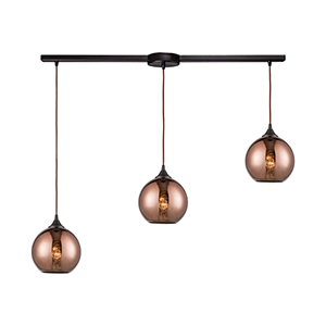 Oil Rubbed Bronze Three-Light Pendant