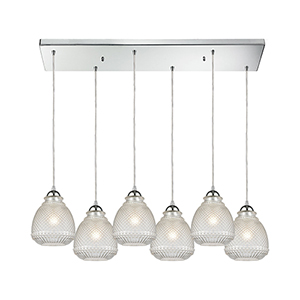 Victoriana Polished Chrome 60W Six-Light Pendant