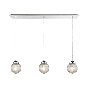 Victoriana Polished Chrome Three-Light Pendant