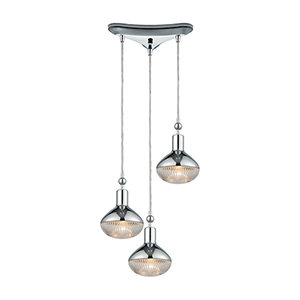Ravette Polished Chrome 60W Three-Light Pendant
