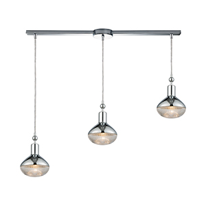 Ravette Polished Chrome Three-Light Pendant