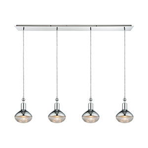 Ravette Polished Chrome Four-Light Pendant