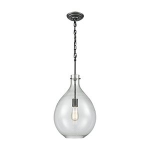 Sunderland Silvered Graphite One-Light Pendant