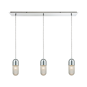 Capsula Polished Chrome Three-Light Pendant