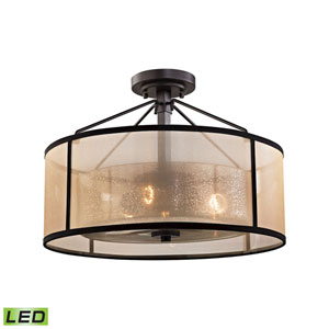 Diffusion Oil Rubbed Bronze LED Semi Flush Mount