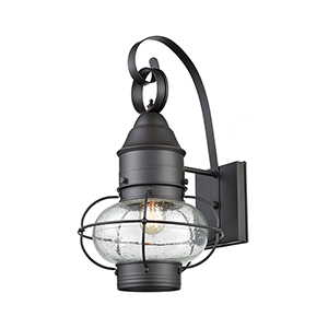 Oil Rubbed Bronze One-Light Outdoor Wall Sconce