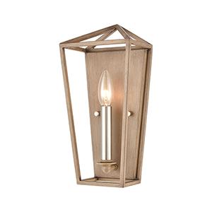 Fairfax Light Wood and Satin Nickel One-Light ADA Wall Sconce
