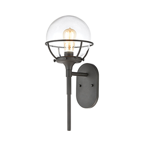 Girard Charcoal One-Light Eight-Inch Wall Sconce