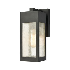 Angus Charcoal Five-Inch One-Light Outdoor Wall Sconce