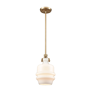 Zumbia Satin Brass One-Light Mini Pendant