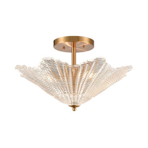 Radiance Satin Brass Four-Light Semi Flush Mount