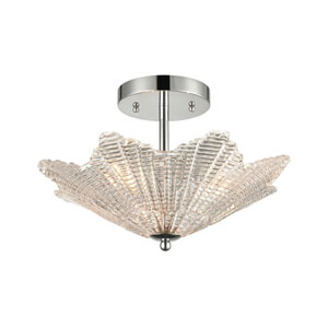 Radiance Polished Chrome Three-Light Semi Flush Mount