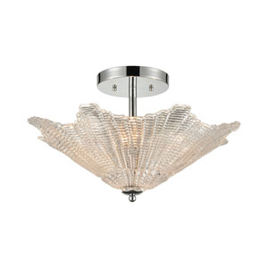 Radiance Polished Chrome Four-Light Semi Flush Mount