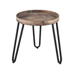 Ridgetop Black Side Table