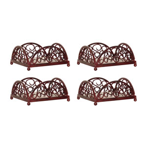 Savanna Montana Rustic Seven-Inch Napkin Holder, Set of Four