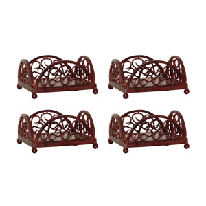 Savanna Montana Rustic Six-Inch Napkin Holder, Set of Four