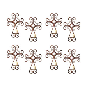 Tejas Montana Rustic Candle Holder Wall Sconce, Set of Eight