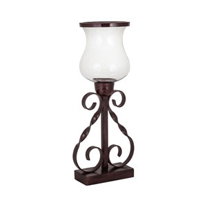 La Grange Metal and Glass Candle Holder