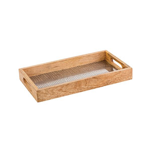 Madison Hammered Nickle Tray