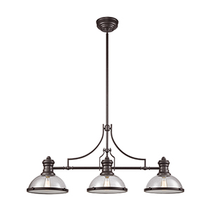 Chadwick Oil Rubbed Bronze Three-Light Island Pendant