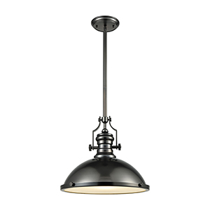 Chadwick Black Nickel One-Light Pendant