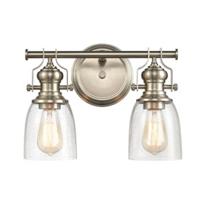 Chadwick Satin Nickel Two-Light Bath Vanity