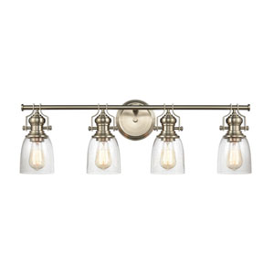 Chadwick Satin Nickel Four-Light Bath Vanity