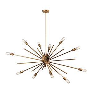 Xenia Matte Gold 14-Light Chandelier