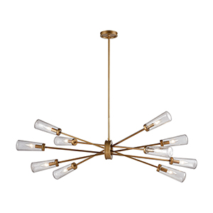 Xenia Matte Gold 10-Light Island Pendant