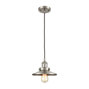 English Pub Satin Nickel One-Light Mini Pendant