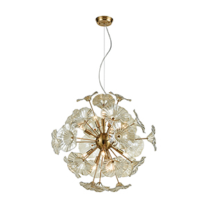 Vershire Satin Brass 12-Light Pendant