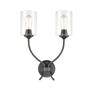 Daisy Midnight Bronze Two-Light Wall Sconce