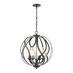 Daisy Midnight Bronze Four-Light Chandelier