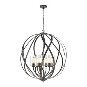 Daisy Midnight Bronze Six-Light Chandelier